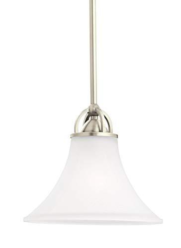 Sea Gull Lighting 61375EN3-965 One Light Mini-Pendant Antique Brushed Nickel