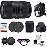 Sigma 18-35mm F1.8 Art DC HSM Lens for Canon DSLR Cameras (210101) with Sigma USB Dock + 32GB SD Card & Advanced Photo & Travel Bundle,