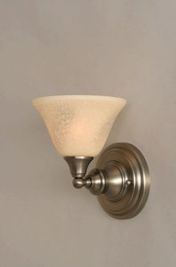 - Wall Sconce w 7 in. Italian Marble Glass Shade
