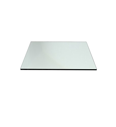 "Milan RC142212PEC Rectangle Glass Table Top, 14"" x 22"", Set"
