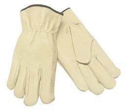 Memphis Glove 3401L 127-Economy Grain Pigskin Keystone Thumb Unlined Drivers Gloves, Large (Pack of 12)