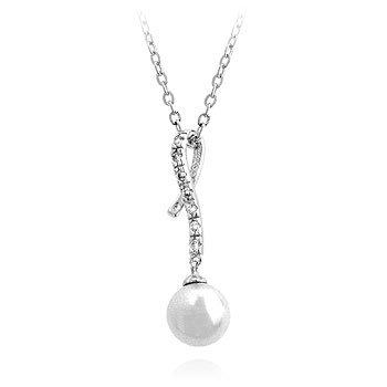 ISADY - Pinarki - Pendentif - Oxyde de zirconium - Perle blanche - Chaîne incluse