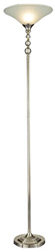 Dale Tiffany GR12357 Optic Orb Crystal Torchiere, Nickel by Dale Tiffany Lamps
