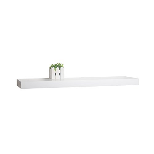 WELLAND® Austin Wall Shelf Display Floating Shelves (White, 48