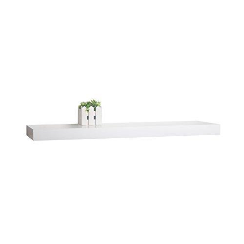 WELLAND® Austin Wall Shelf Display Floating Shelves (White, 48