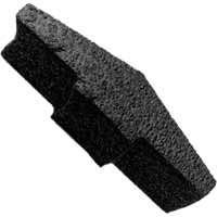 Ridge Vent End Plug Blk Foam