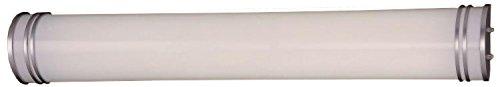Minka Lavery Wall Light Fixtures 666-PL Bath Art Glass Bath Vanity Lighting, 2 Light, 50 Watts Fluorescent, Silver