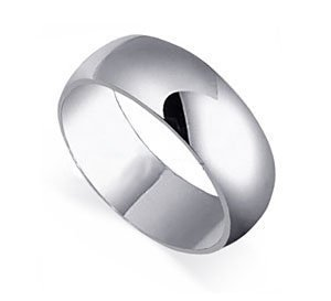 gem avenue mens 925 plain sterling silver 8mm wedding band