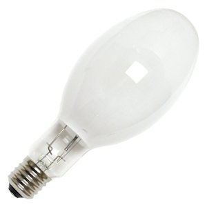 GE 48824 - 350 Watt - ED37 - PulseArc Multi-Vapor - Pulse Start - Metal Halide - Protected Arc Tube - 3700K - EX39 Mogul Base - White Coated - ANSI M131/O - Base Up Burn - MPR350/C/VBU/PA