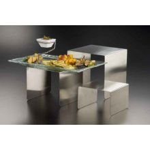 Stainless Steel Riser Set (American Metalcraft RSS3 Risers, 8