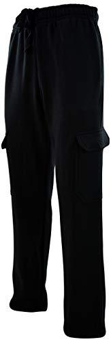 (Mens Cargo Sweatpants with Drawstrings (XL, 217-Black))