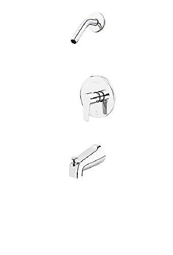 (Pfister Pfirst R890700 Polished Chrome Modern 1-Handle Tub & Shower, Trim Only Less Showerhead )