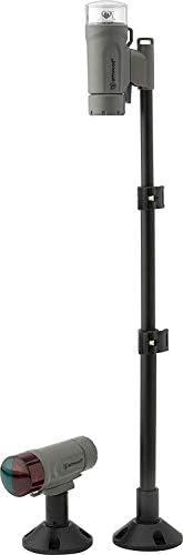 Attwood 14192-7 Water-Resistant Deck Mount LED Navigation Light Kit, Marine Gray Finish