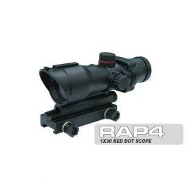 US Army Alpha Black SOCOM 1x30 Red Dot Scope - paintball sight by Rap4