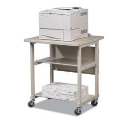 ** Heavy-Duty Mobile Laser Printer Stand, 3-Shelf, 27w x 25d x 27-1/2h, Gray **