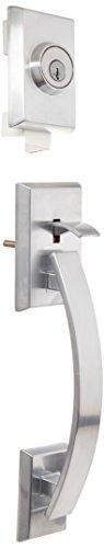 Kwikset 801TVHLIP-26DS Tavaris Double Cylinder Exterior Handleset Smart Key Satin Chrome Finish by Kwikset
