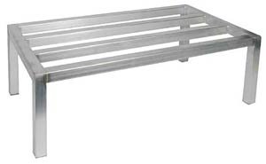 Royal Industries Dunnage Rack, Aluminum, 20x36, Silver