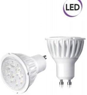 Electraline 63285 Faretto a LED a Risparmio energetico 7W=40W, Attacco GU10, Luce Calda 500 Lumen