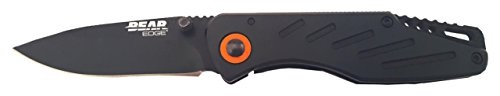 (Bear Edge 61104 Frame Lock Lightweight Folder with Pocket Clip, Black, 3 3/8