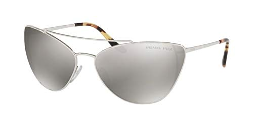 Prada 0PR 65VS Gafas de sol, Silver, 68 para Mujer: Amazon ...