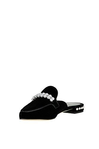 Stuart Weitzman Women's MCGLCAB04005I Black Velvet Sandals cheap ebay ZkHu7