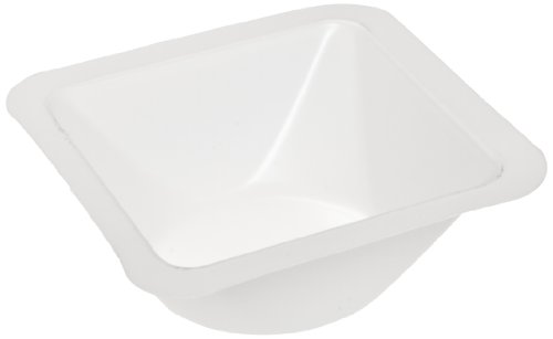 Heathrow Scientific HS1420B Standard Weighing Boat, Polystyrene, Medium, 85 mm L x 85 mm W x 24 mm D, White (Pack of 500)