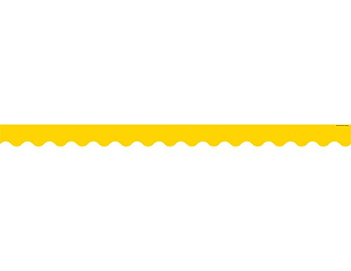- Teacher Created Resources Yellow Gold Scalloped Border Trim (4599)