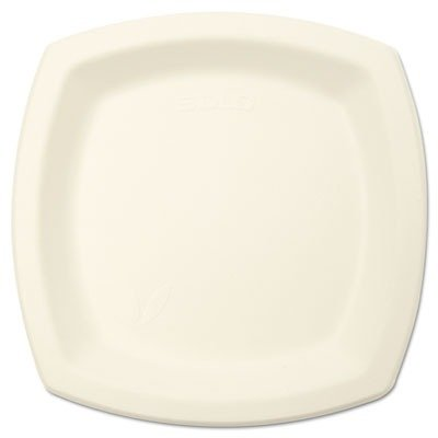 "Dart 6PSC2050PK Bare Eco-Forward Sugarcane Dinnerware, 6 7/10"" Plate, Ivory (Pack of 125)"