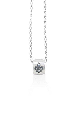 Fleur De Lis Pendant Necklace - Mignon Faget Fleur de Lis Intaglio Ring Pendant Necklace Sterling Silver, 18