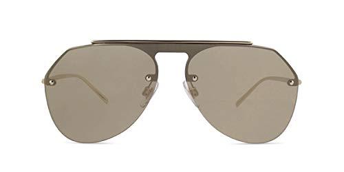 Dolce&Gabbana DG2213 Sunglasses 488/5A-34 - Pale Gold Frame, Light Brown Mirror DG2213-488-5A-34