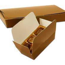 7-1/2 X 4 X 1-1/8 1/2 LB Gold 1-Layer Ballotin Box