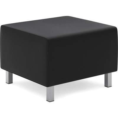 HON Modular Lounge Ottoman, Black SofThread Leather (HVL862)