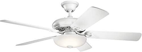 Kichler Lighting Kichler 330005MWH 52 Ceiling Fan, Matte White