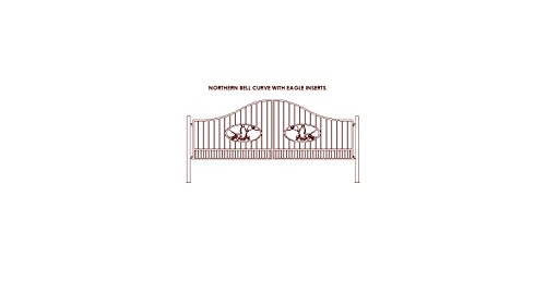 Birds Medallions (Gate Builders Northern Bell Steel Entry Gate with 4Ft Bird medallion)