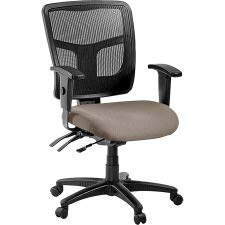 Lorell Managerial Mesh Mid Back Swivel Office Chair in Brown