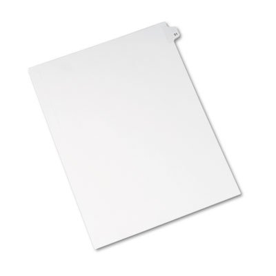 Avery 01051 Avery-Style Legal Exhibit Side Tab Divider, Title: 51, Letter, White, 25/Pack