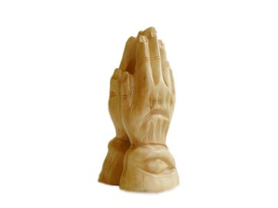 Olive Wood Praying Hands. (Praying Hands Sculpture)