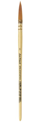 - da Vinci Watercolor Series 488 CosmoTop Spin Paint Brush, Round Synthetic with Lacquered Natural Handle, Size 1 (488-01)