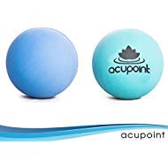 Acupoint Physical Massage Therapy Balls - Ideal for: Yoga, Deep Tissue Massage, Trigger Point Therapy and Self Myofascial Release Physical Therapy Equipment ()