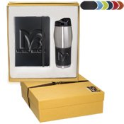 (Tuscany Journal & Tumbler Gift Set 15 QUANTITY- $30.58 EACH PROMOTIONAL PRODUCT / BULK / BRANDED with YOUR LOGO / CUSTOMIZED)