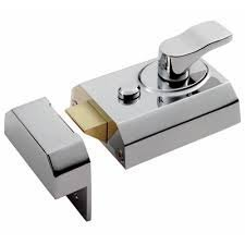 8360EB - Rim Cylinder Nightlatch - Deadlocking Rim Cylinder 60mm c/w Matching Finish Cylinder and 3 Keys - Finish - Electro Brassed (EB) by Carlisle Brass (Deadlocking Cylinder)