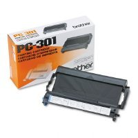 2 X Brother PC-301 Fax/Printer Cartridge - Retail Packaging