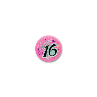 Sweet Sixteen Satin Button 2