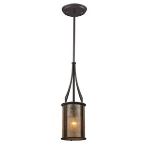 (Elk 15033/1 Barringer 1-Light Mini Pendant and Tan Mica Shade)