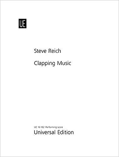 ライヒ: 手拍子のための音楽/ウニヴァザール社/打楽器ソロ
