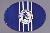 Magnolia Lane Collegiate Ceramic Mascot Platter (Duke Blue Devils)