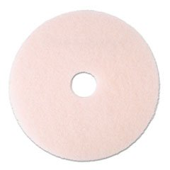 3M Ultra High-speed Eraser Burnishing Floor Pads 3600 - Round, 20 inch Diameter, 1 inch Thick, Non Woven Polyester Fiber, Perforated Center Hole, Use with Ultra High Speed Machines -- 5 per case.