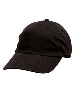 Chino Twill Hat (Bayside 3630 Unisex Washed Chino Twill Unconstructed Cap Ball Hat Black)