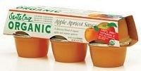 Santa Cruz Organic Organic Apricot Applesauce ( 12x6/4 OZ) by Santa Cruz Organic