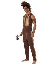 Porcupine Fancy Dress Costume (Noble Indian Warrior Adult Costume)
